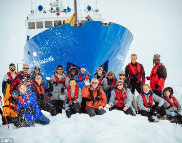 Global warming scientists caught in ice that has already melted...