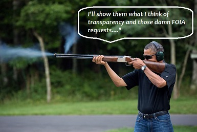 barack obama clay shooting flickr white house photo public domain Obama blowing holes in FOIA requests and transparency